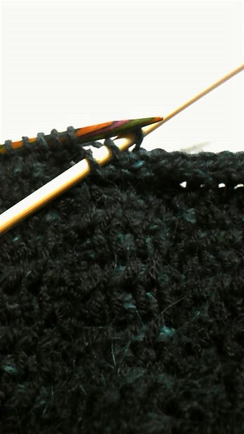 アフガン編みベスト・縁編み